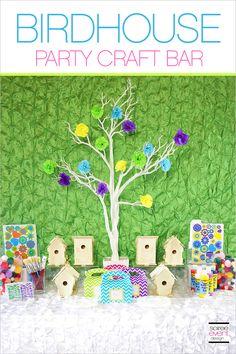 "  Host a ""Tweet-Tweet"" Spring Birdhouse Craft Party!   http://soiree-eventdesign.com"