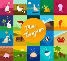 Artwork Inspiration #playtangram #Colorful #art #graphic #Illustration