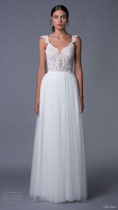 lihi hod 2017 bridal thick strap sweetheart neckline heavily embellished bodice tulle skirt romantic a  line wedding dress low back (helena) mv