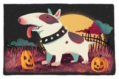 #Bullterrier - #Halloween Commission by NicoleWest on @deviantART