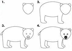 How to draw a polar bear instructions sheet (SB9210