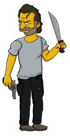 Rick Grimes Simpson by TheWalkerPrieton on DeviantArt