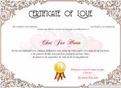 60 Best Love Certificate Templates Images Awards Badge Badges