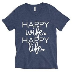 DISCOUNT code ANNABELLE15 to save on entire purchase Happy Wife Happy Life Shirt  Wife Shirt  Women's Shirts