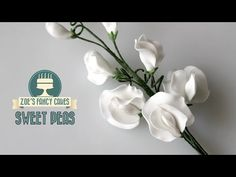 Sweet peas: How to make gum paste sweet peas for cakes - YouTube