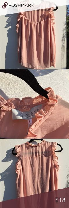 #14 wayf blush peasant top size large Wayf where are you from coral blush peasant top size large Wayf Tops Blouses