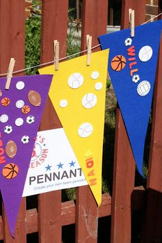For ULS baseball summer unit pennant craft