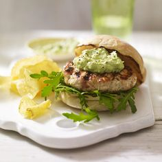 Tex Mex Chicken burgers with avacado mayo, sounds like a perfect summer recipe!