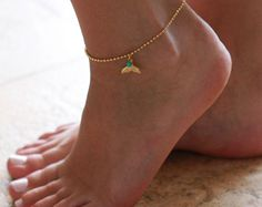 Gold Anklet - Gold Ankle Bracelet - Foot Jewelry - Foot Bracelet - Anklets For Women - Summer Jewelry - Beach Jewelry - Beach Wedding