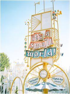 Disneyland Its a Small World. Disney Dream, Cute Disney, Disney Magic, Disney Art, Disneyland Engagement Photos, Disney Engagement, Engagement Pictures, Engagement Session, Disneyland California