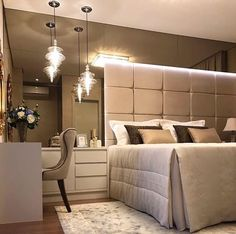 Ultimate Master Bedroom Styles For Your Home 62 - decorwoo Home Decor Bedroom, Interior Design Living Room, Bedroom Furniture, Master Bedroom, Suites, Bedroom Styles, Luxurious Bedrooms, Bed Design, Instagram Clean