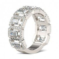 Created white sapphire.   Wedding Rings, Wedding Ring Sets, Wedding Bands For Women And Men Hot Sale - Jeulia.com
