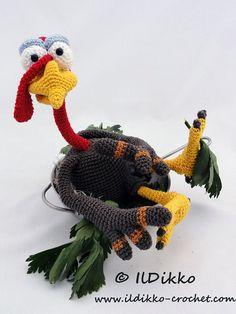 Amigurumi Crochet Pattern - Theo the Turkey
