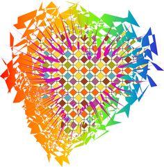 "Sketch of ""Heart zig pucker! "" #heart #graphicky #nuinui"