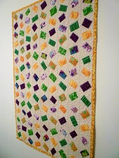 loose, free design!!!  Baumcat: Ticker Tape Quilt