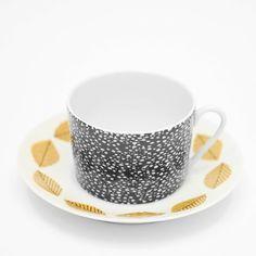 Fine Little Day - 2-PACK KOPPAR OCH KAFFEFAT MIX Tea Cup Set, Cup And Saucer, Tea Time, Mugs, Tableware, Dinnerware, Tumblers, Tablewares, Mug