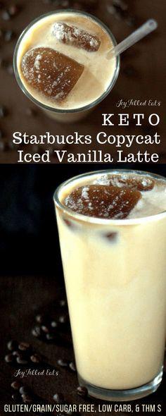 Sugar Free Starbucks Vanilla Latte Frappuccino Recipe - Joy Filled Eats