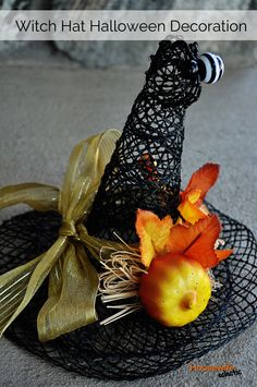 Housewife Eclectic: Witch Hat Halloween Decoration