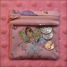 Zippered Coin Wallet In the Hoop Embroidery Design