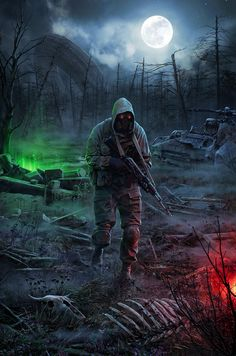 Soldier Walking Through Dead Lands - Radioactive Water | Apocalypse - Sci-Fi | Military