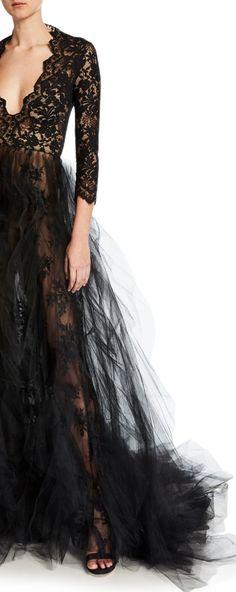 oscar de la renta Carbon Copy, Cinderella, Color Black, Victorian, Dresses, Fashion, Oscar De La Renta, Vestidos, Moda