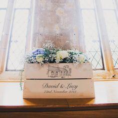 Personalised Wedding Illustration Crate