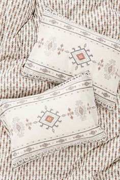 Shop 4040 Locust Baez Sham Set at Urban Outfitters today. Pillowcases & Shams, Pillow Shams, Bedding Inspiration, Apartment Essentials, Craft Images, Bedclothes, Textiles, New Year Gifts, Duvet Cover Sets
