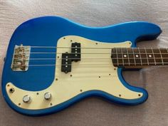 [FREE-SHIPPING] $249.0 Tokai Hard Puncher Bass (Blue Sparkle Refinish) Bass Guitars For Sale, Blue Sparkles, Free Shipping