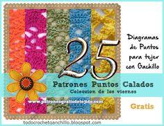 25 patrones calados de puntos crochet