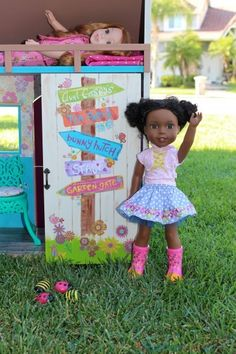 DIY American Girl Wellie Wishers Playhouse
