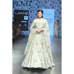 Bollywood Replica - Wedding Wear Grey Silk Lehenga Choli - PO-17
