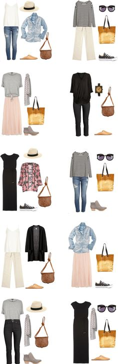 What to Wear in New Orleans Outfits 1-10 #travellight #packinglight #travel…