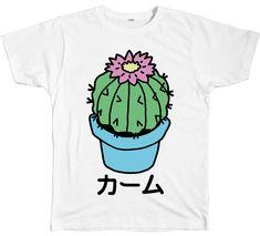 CALM CACTUS TEE http://shop.inu-inu.co/CactusTee #INUINU #ShopINUINU #INU-INU…