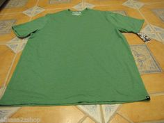 Men's Hurley XL premium fit plain T shirt heather green MTSPST7 surf skate NEW