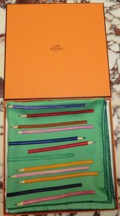 """Original HERMES Tuch/Foulard/Scarf """"A VOS CRAYONS"""", 2004/05 