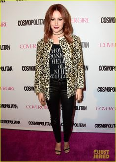 Ashley Tisdale Shows Off Red Hair at Cosmo's 50th Birthday