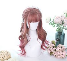 18 ideas for hair styles ideas waves Manga Hair, Anime Hair, Kawaii Hairstyles, Cute Hairstyles, Kawaii Wigs, Cool Makeup Looks, Anime Wigs, Cosplay Hair, Dream Hair