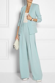 Love the colour and the new wide leg pants