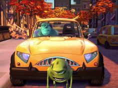 Pixar Short Films Collection - Mike's New Car 2002 - YouTube