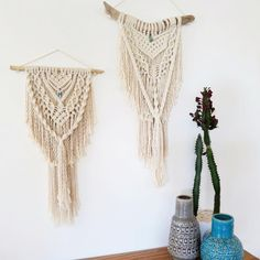 """74 Likes, 8 Comments - Jodie Townsend (@creativebowerbird) on Instagram: """"These two boho macrame wall hangings will be with me at the @peregianbeachmarkets this sunday! I…"""""""