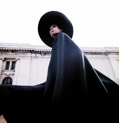 Naomi Sims photographed by Gosta Peterson outside The Metropolitan Museum of Art for The New York Times, 1967