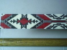 Menominee Native American Beaded Hat Band Design~ Beaded hatband