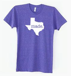 Texas TX Made Tri Blend Track TShirt by SevenMilesPerSecond