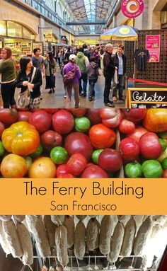 First stop for foodies visiting San Francisco - The Ferry Building artisan food market - must remember this for our next visit.
