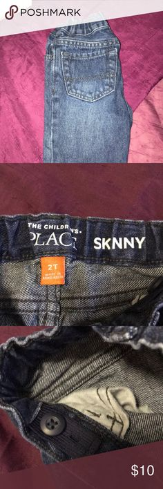 2T boys skinny jeans Like new toddler boy skinny jeans w! Elastic waist adjusters The Children's Place Jeans Skinny