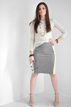 I Still Love You by Melissa Esplin: Sewing: Leather and Knit Tuxedo Skirt Tutorial