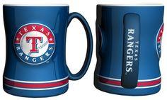 Texas Rangers Coffee Mug - 14oz Sculpted, Blue