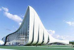 Heydar Aliyev Cultural Center    The center is a cultural complex in Baku, Azerbaijan, designed by Iraqi-British architect Zaha Hadid. @Deidré Wallace