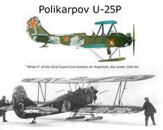 """Polikarpov U-25P - """"White 9"""" Del Reggimento Aviazione della Guardia Civile, 1943"""