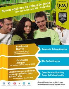 EANista: conoce las nuevas opciones de trabajo de grado para #Postgrado